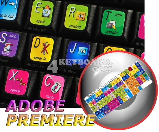 Adobe Premiere keyboard stickers