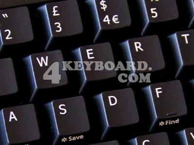 English UK Keyboard sticker