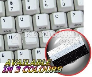 Replacement English US keyboard sticker