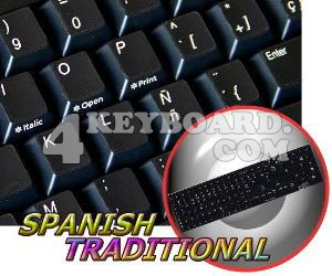 Replacement Spanish keyboard sticker