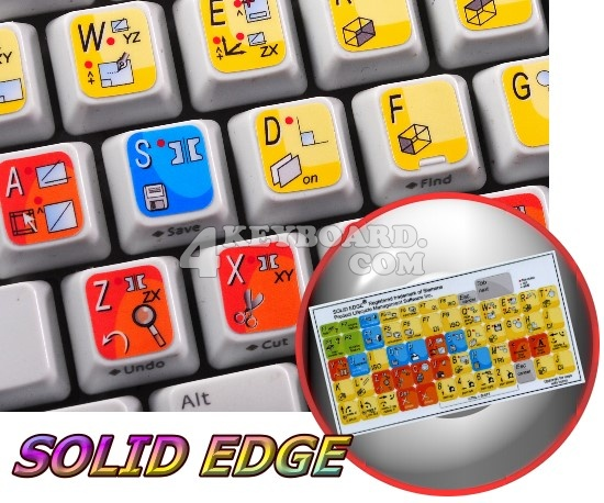 Solid Edge keyboard stickers