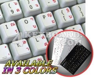 Thai English non-transparent keyboard sticker