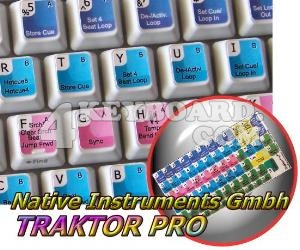 TRAKTOR PRO keyboard stickers
