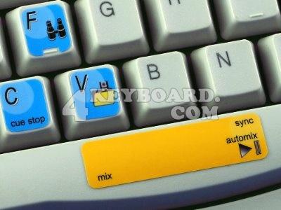 Virtual DJ keyboard stickers