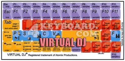 Click to enlarge Virtual DJ keyboard stickers